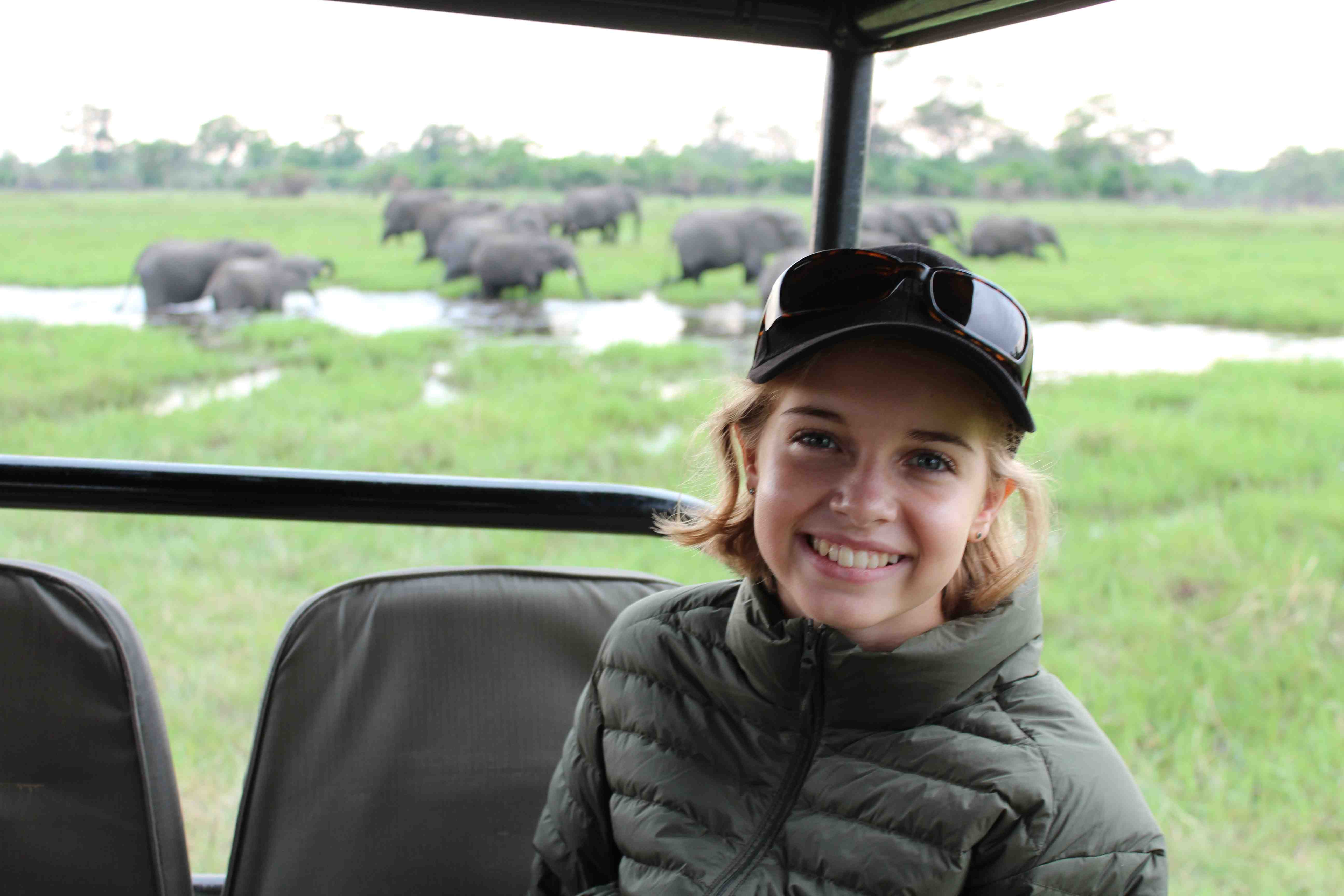 This photo of young wildlife crusader Alice Bertram was taken at Banoka Camp in 2014 during my group safari, just near where our 2017 safari will be going first....