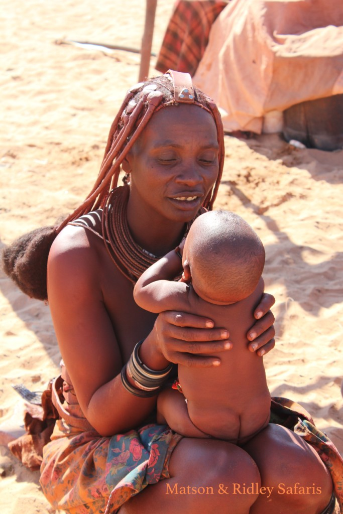 Himba lady and baby