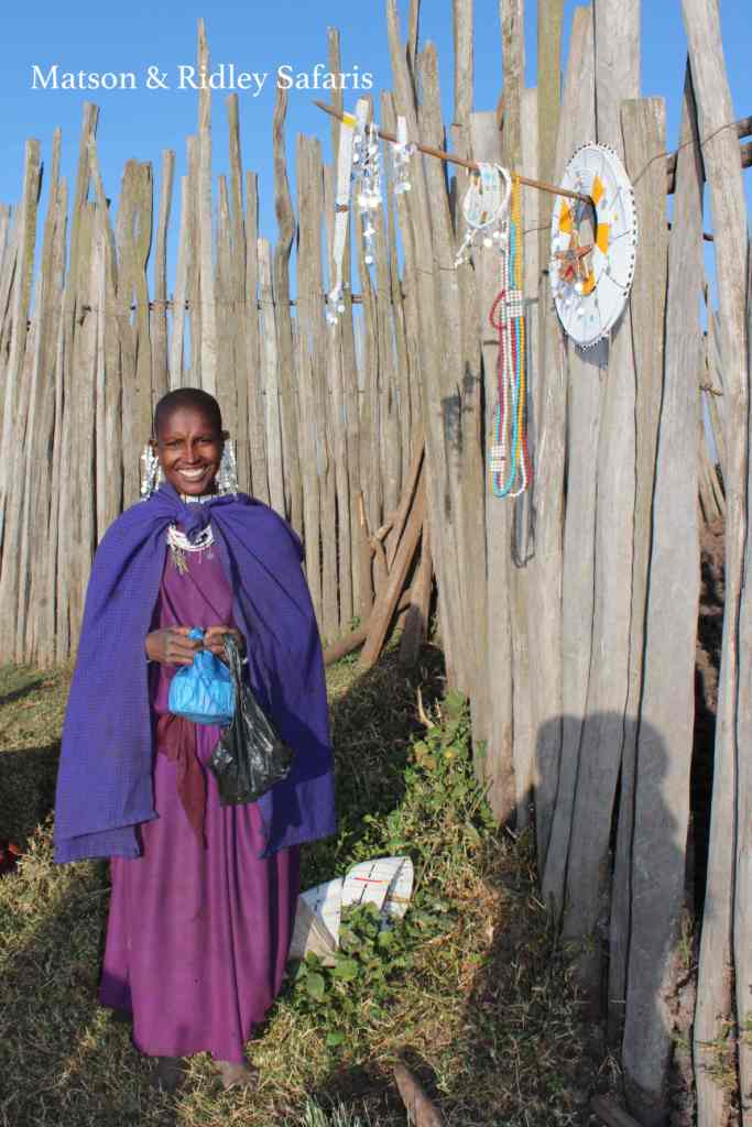 Maasai women are very happy to sell their local crafts to visitors staying at The Highlands