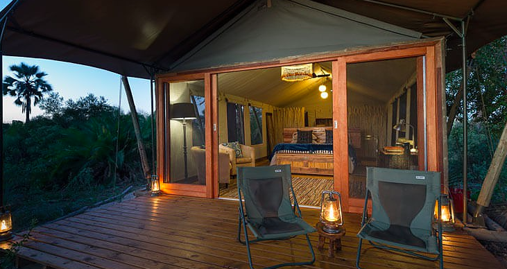 Pelo Camp, inside a guest room - boutique luxury in the bush!